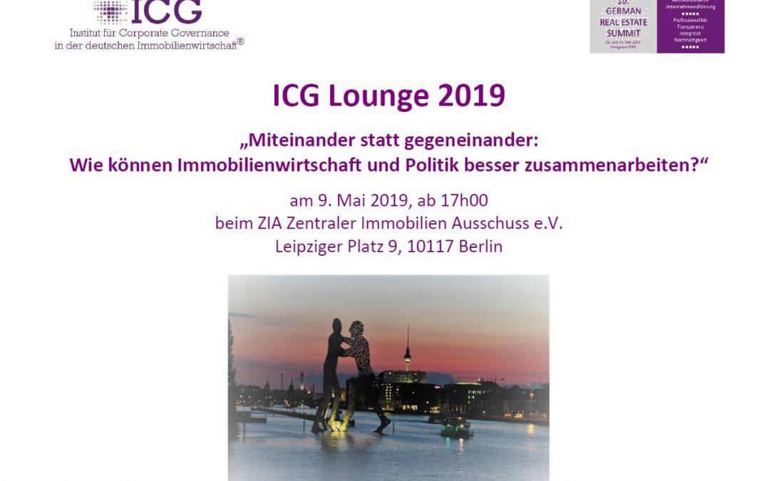 Das ICG lädt ein nach Berlin zur ICG Lounge 2019